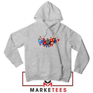 Marvel Fat Superheroes Sport Grey Hoodie