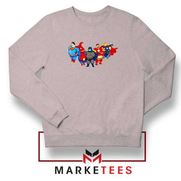 Marvel Fat Superheroes Sport Grey Sweatshirt