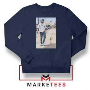 Nipsey Hussle Rapper Cheap Navy Blue Sweatshirt
