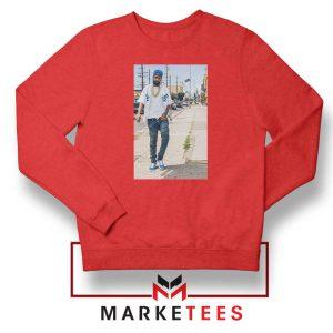 Nipsey Hussle Rapper Cheap Red Sweatshirt