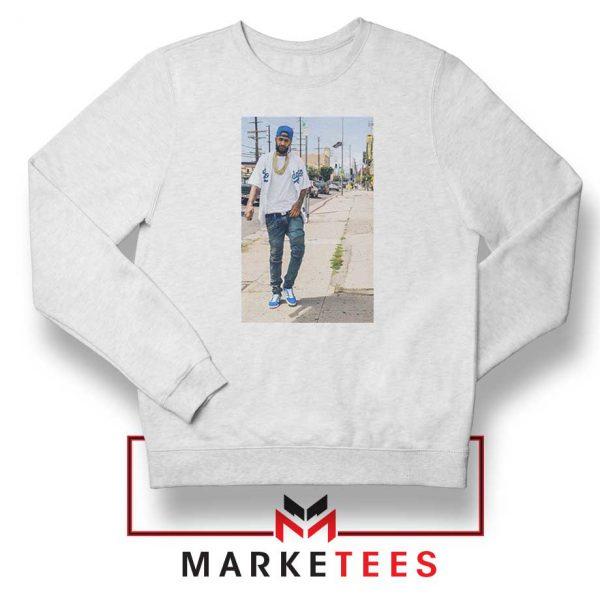 Nipsey Hussle Rapper Cheap White Sweatshirt