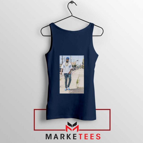 Nipsey Hussle Rapper Navy Blue Tank Top