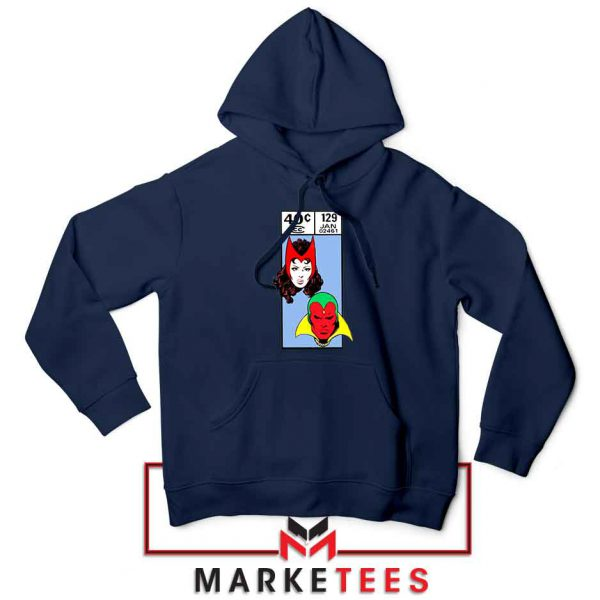 Scarlet Witch and The Vision Navy Blue Hoodie