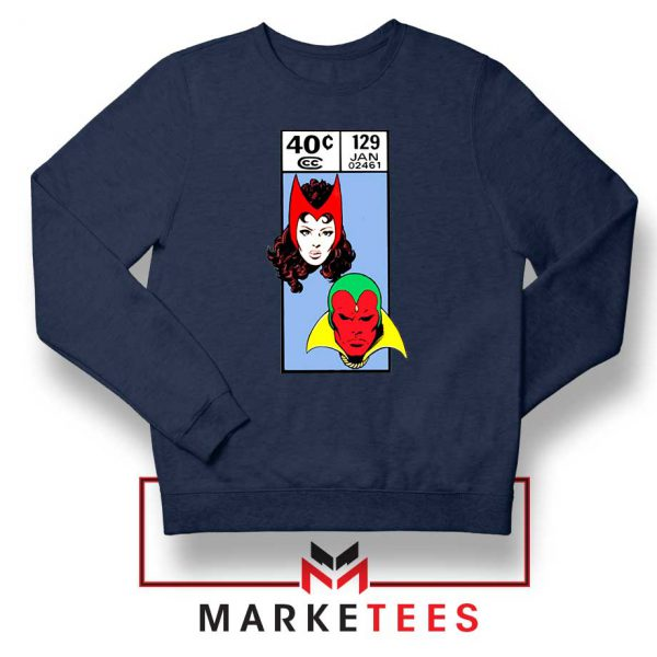 Scarlet Witch and The Vision Navy Blue Sweatshirt