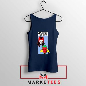Scarlet Witch and The Vision Navy Blue Tank Top