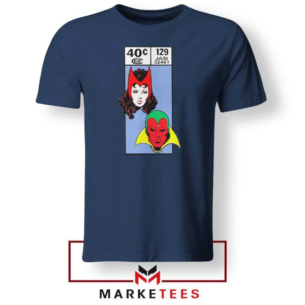 Scarlet Witch and The Vision Navy Blue Tshirt