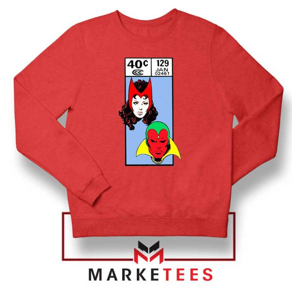 Scarlet Witch and The Vision Red Sweatshirt