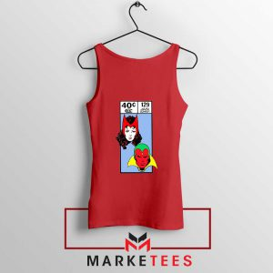 Scarlet Witch and The Vision Red Tank Top