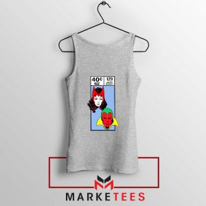 Scarlet Witch and The Vision Sport Grey Tank Top