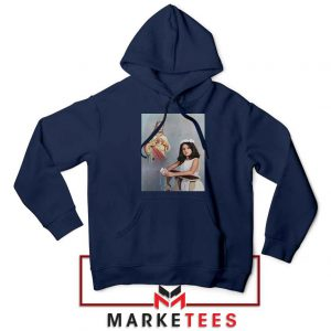 Selena Gomez First Communion Navy Blue Hoodie