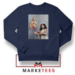 Selena Gomez First Communion Navy Blue Sweatshirt