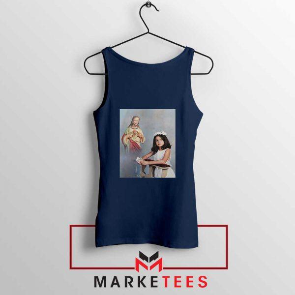 Selena Gomez First Communion Navy Blue Tank Top
