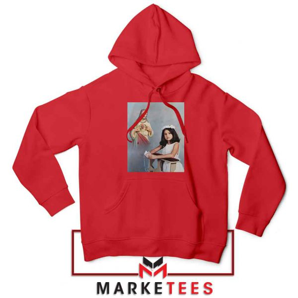 Selena Gomez First Communion Red Hoodie