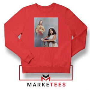 Selena Gomez First Communion Red Sweatshirt