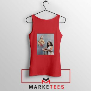 Selena Gomez First Communion Red Tank Top