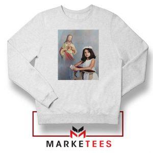 Selena Gomez First Communion White Sweatshirt