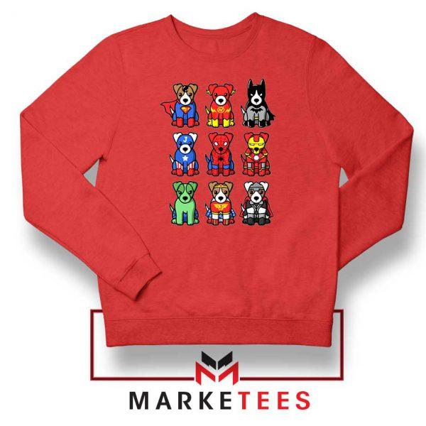 Superdogs Animal Best Red Sweatshir