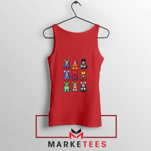 Superdogs Animal Cheap Red Tank Top
