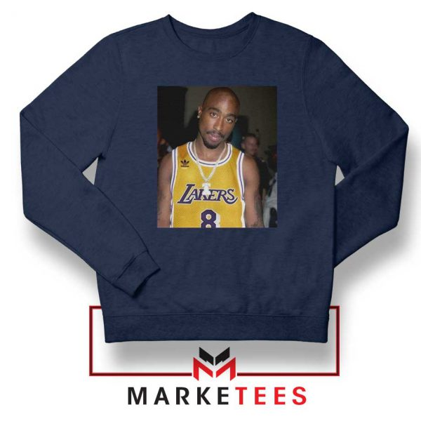 Tupac Lakers 2021 Best Navy Blue Sweatshirt
