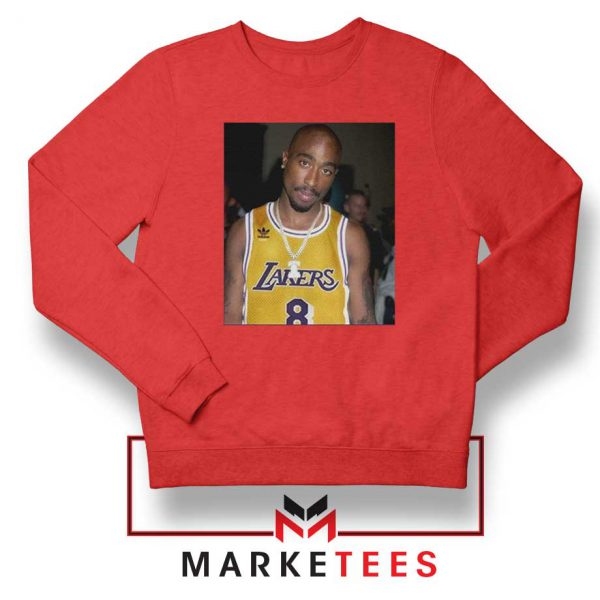 Tupac Lakers 2021 Best Red Sweatshirt