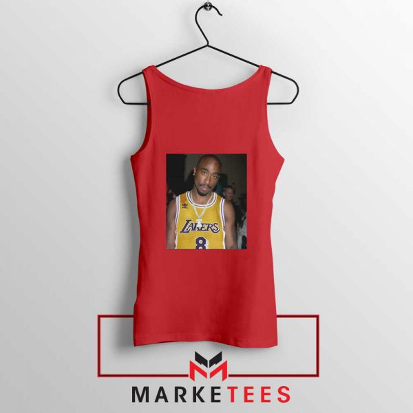 Tupac Lakers 2021 Best Red Tank Top