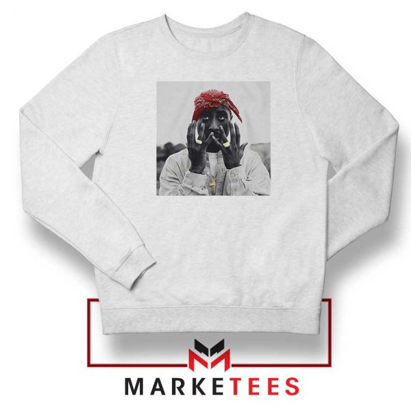 Tupac Speechless Best White Sweatshirt