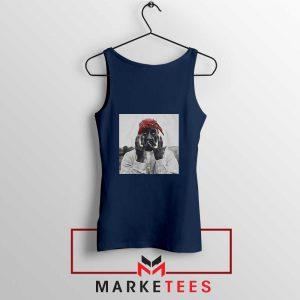 Tupac Speechless Cheap Navy Blue Tank Top