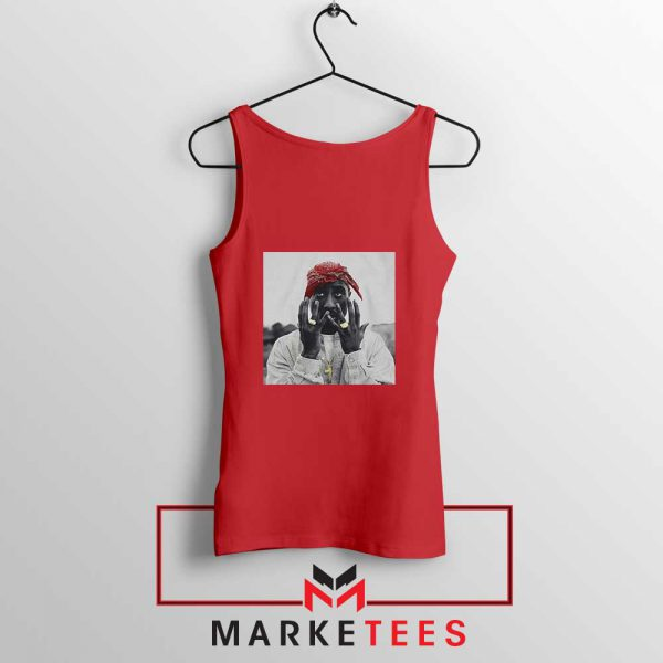 Tupac Speechless Cheap Red Tank Top