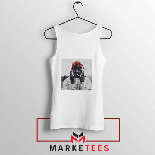 Tupac Speechless Cheap White Tank Top