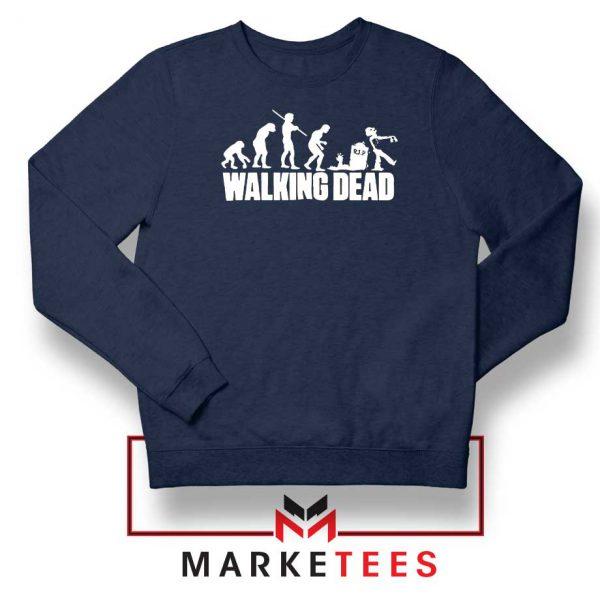 Walking Dead Zombie Evolution Navy Blue Sweatshirt