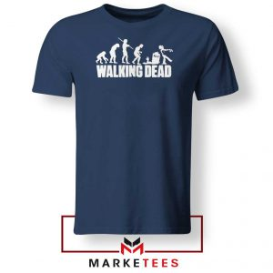 Walking Dead Zombie Evolution Navy Blue Tshirt