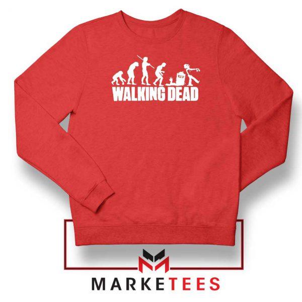 Walking Dead Zombie Evolution Red Sweatshirt