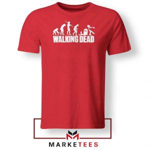 Walking Dead Zombie Evolution Red Tshirt