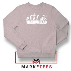 Walking Dead Zombie Evolution Sport Grey Sweatshirt