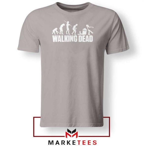 Walking Dead Zombie Evolution Sport Grey Tshirt