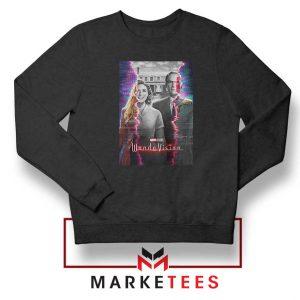 WandaVision Poster 2021 Black Sweatshirt
