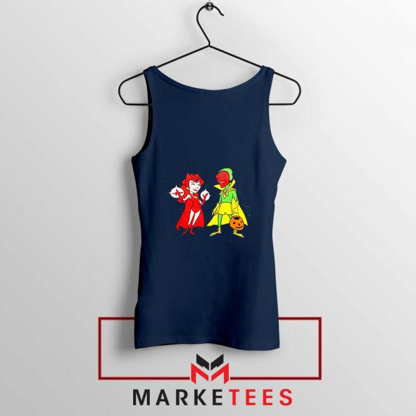 Wandavision Cartoon 2021 Best Navy Blue Tank Top