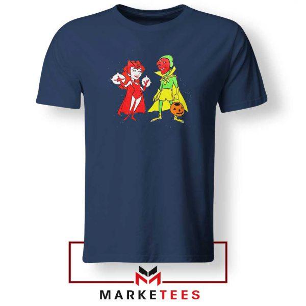 Wandavision Cartoon 2021 Best Navy Blue Tshirt