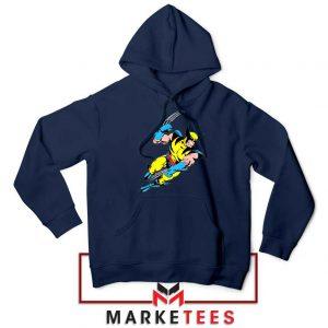 Wolverine Mutant Marvel Navy Blue Hoodie