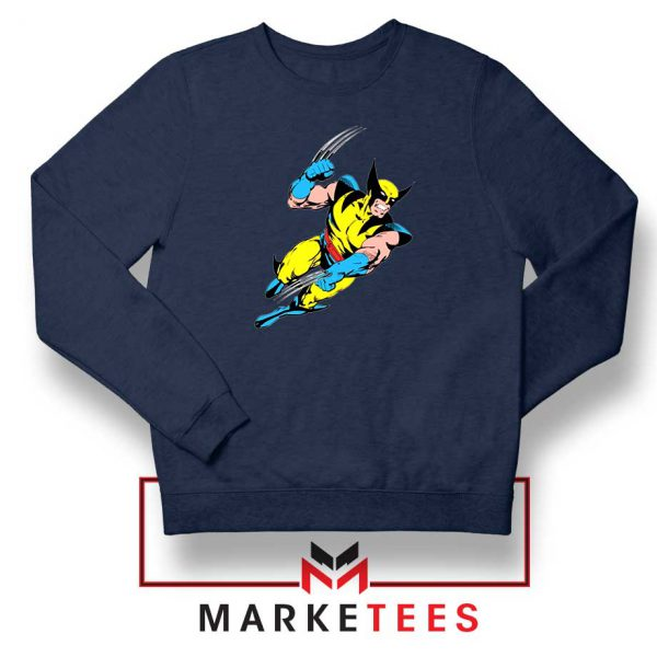 Wolverine Mutant Marvel Navy Blue Sweatshirt