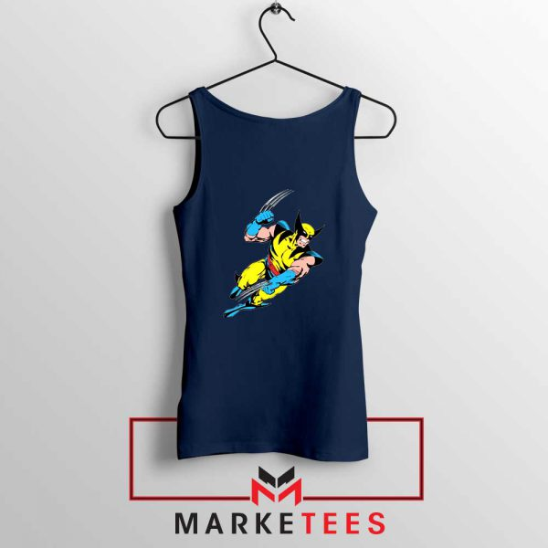 Wolverine Mutant Marvel Navy Blue Tank Top