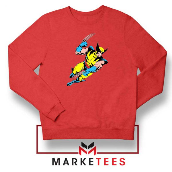 Wolverine Mutant Marvel Red Sweatshirt