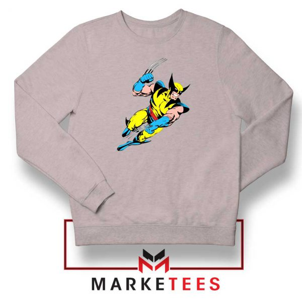 Wolverine Mutant Marvel Sport Grey Sweatshirt