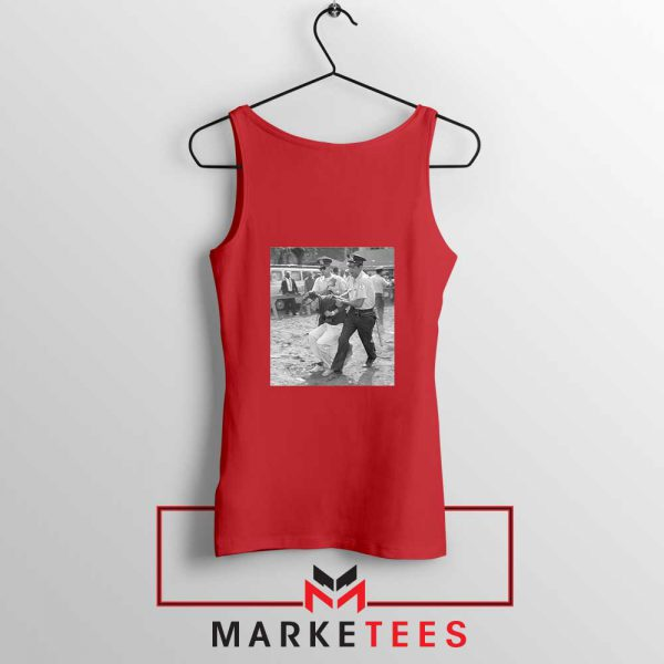 Young Bernie Sanders Arrested Red Tank Top