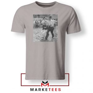 Young Bernie Sanders Arrested Sport Grey Tshirt