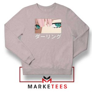 Anime Zero Two Eyes Grey Sweatshirt
