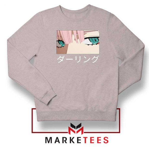 Anime Zero Two Eyes Grey Sweatshirt