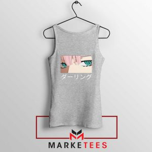 Anime Zero Two Eyes Grey Tank Top
