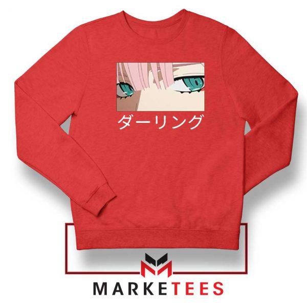 Anime Zero Two Eyes Red Sweatshirt