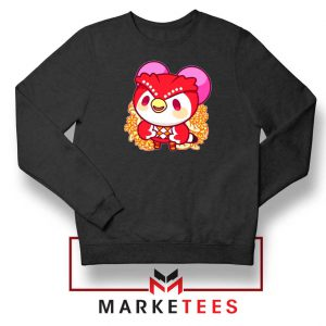 Bird Animal Crossing Series Black Sweatshirt